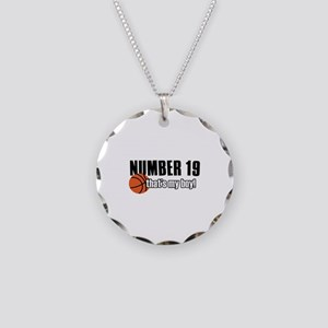 Basketball Parent Of Number 19 Necklace Circle Cha