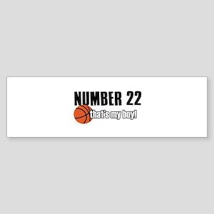 Basketball Parent Of Number 22 Sticker (Bumper)