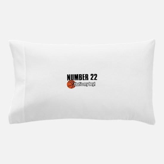 Basketball Parent Of Number 22 Pillow Case