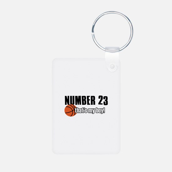 Basketball Parent Of Number 23 Keychains