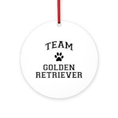 Team Golden Retriever Ornament (Round)