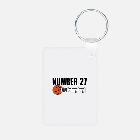Basketball Parent Of Number 27 Keychains