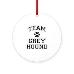 Team Greyhound Ornament (Round)