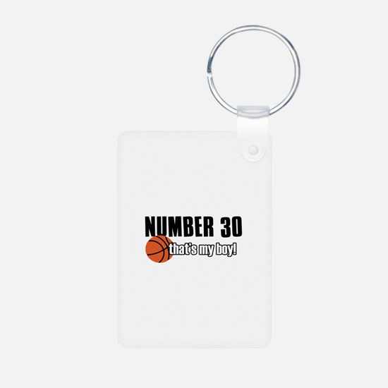 Basketball Parent Of Number 30 Keychains