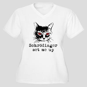 Schrodinger Set Me Up Women's Plus Size V-Neck T-S