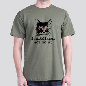 Schrodinger Set Me Up Dark T-Shirt