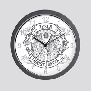 Jesus Christ Saves Wall Clock