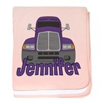 Trucker Jennifer baby blanket