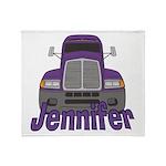 Trucker Jennifer Throw Blanket