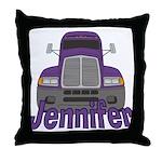 Trucker Jennifer Throw Pillow