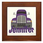Trucker Jennifer Framed Tile