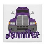 Trucker Jennifer Tile Coaster