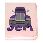 Trucker Jeri baby blanket