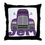 Trucker Jeri Throw Pillow