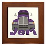 Trucker Jeri Framed Tile