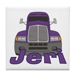 Trucker Jeri Tile Coaster