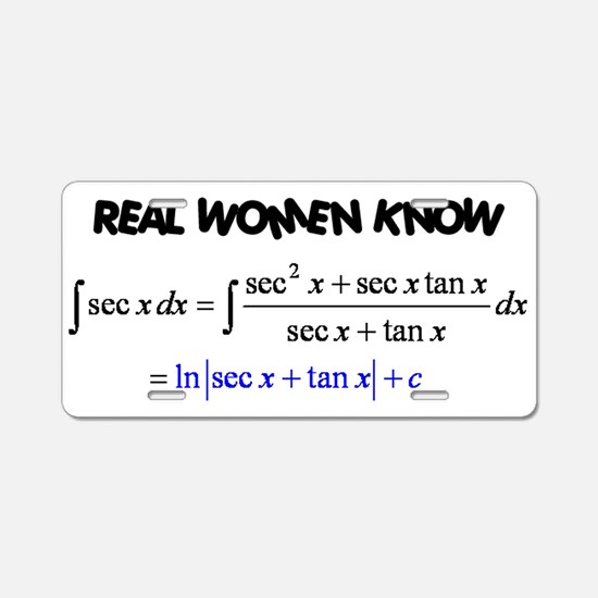 Real Women-2 Aluminum License Plate