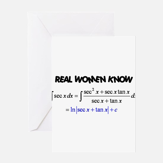 Real Women-2 Greeting Card
