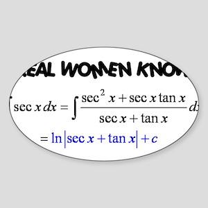 Real Women-2 Sticker (Oval)