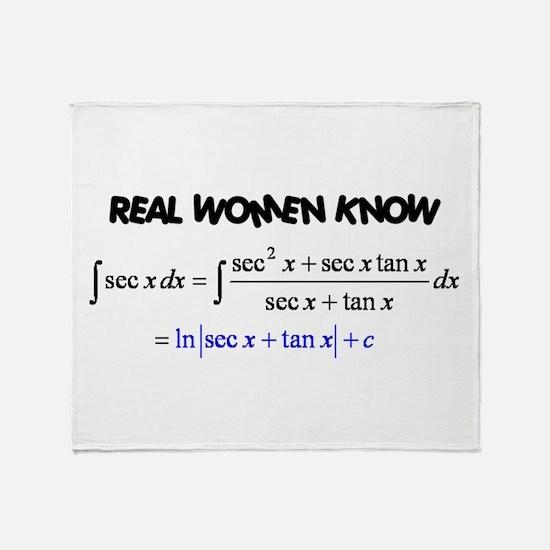Real Women-2 Throw Blanket