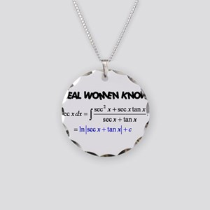Real Women-2 Necklace Circle Charm