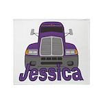 Trucker Jessica Throw Blanket
