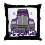 Trucker Jessica Throw Pillow
