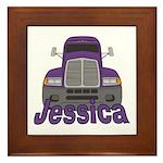Trucker Jessica Framed Tile