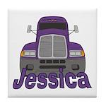 Trucker Jessica Tile Coaster