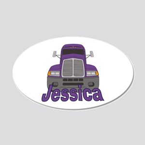 Trucker Jessica 20x12 Oval Wall Decal