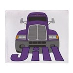 Trucker Jill Throw Blanket