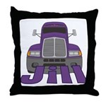 Trucker Jill Throw Pillow