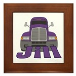 Trucker Jill Framed Tile