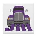 Trucker Jill Tile Coaster