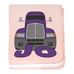 Trucker Jo baby blanket