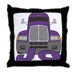 Trucker Jo Throw Pillow