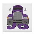 Trucker Jo Tile Coaster