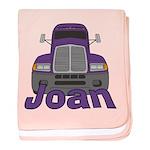 Trucker Joan baby blanket