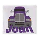 Trucker Joan Throw Blanket