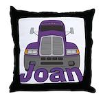 Trucker Joan Throw Pillow
