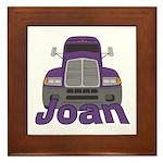 Trucker Joan Framed Tile