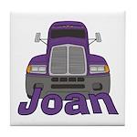 Trucker Joan Tile Coaster