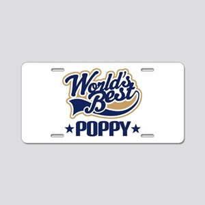 Poppy (Worlds Best) Aluminum License Plate