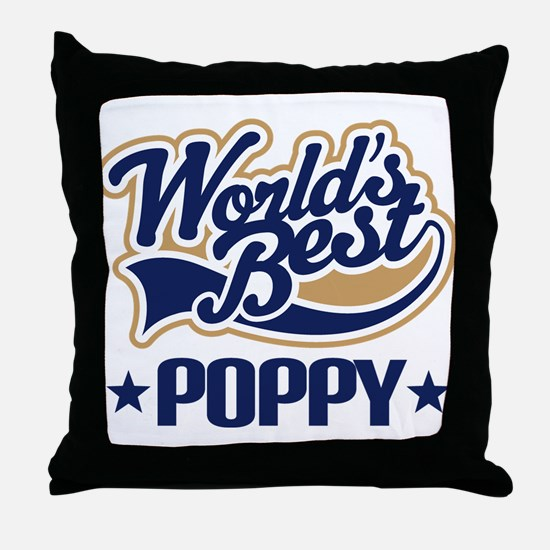 Poppy (Worlds Best) Throw Pillow