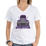 Trucker Joanna Women's V-Neck T-Shirt
