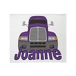 Trucker Joanne Throw Blanket