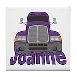 Trucker Joanne Tile Coaster