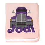 Trucker Jodi baby blanket