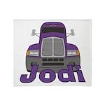 Trucker Jodi Throw Blanket