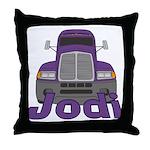 Trucker Jodi Throw Pillow
